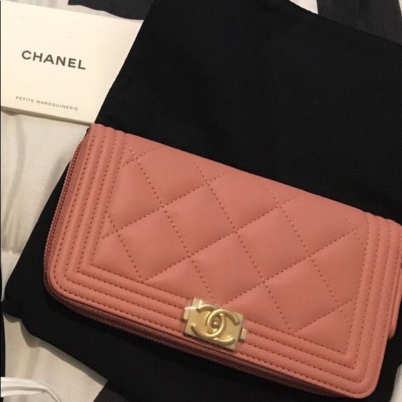 1de11b3d636f CHANEL Handbags - New Pink Salmon Chanel Boy Wallet!